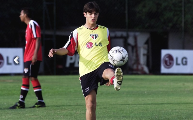 Kaka at the age when he was playing Copinha
