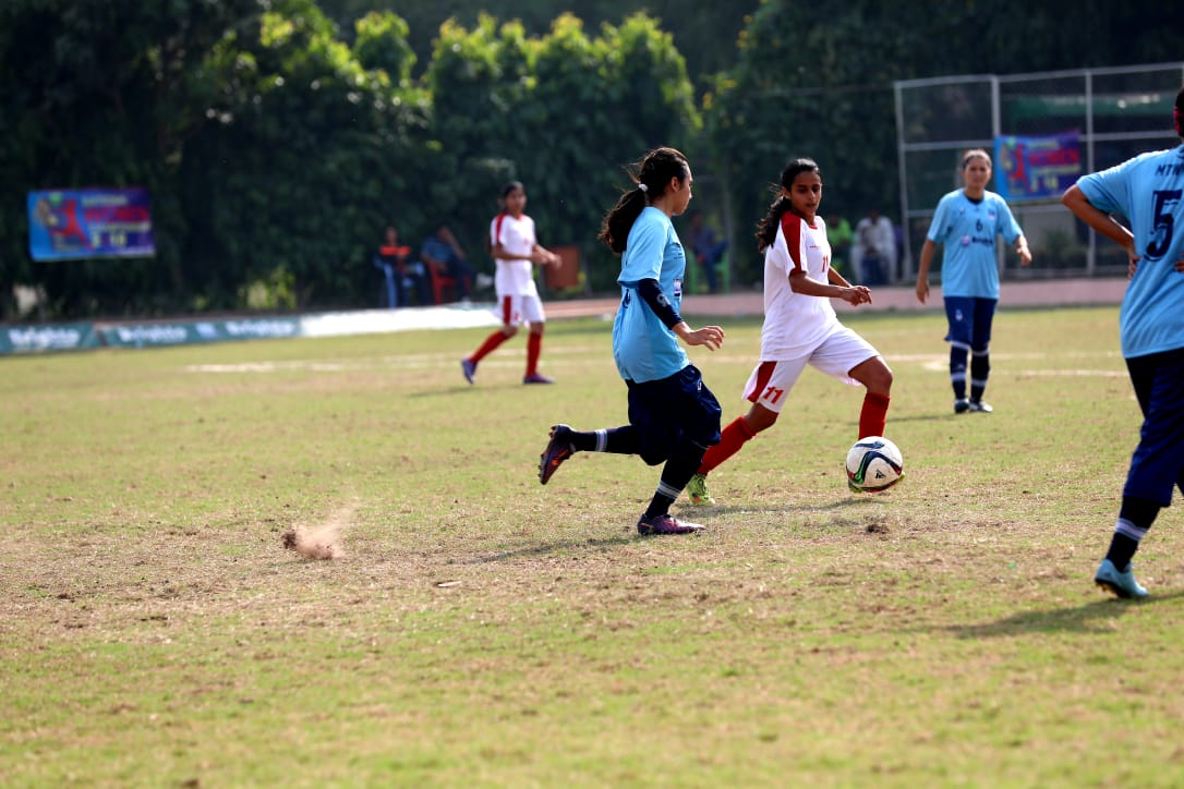 IMKhadija Kazmi playing during the National Women Football Championship 2018