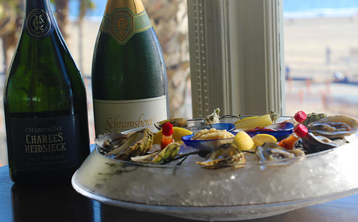 Champagne and Oysters Santa Monica Hotel Special Offer