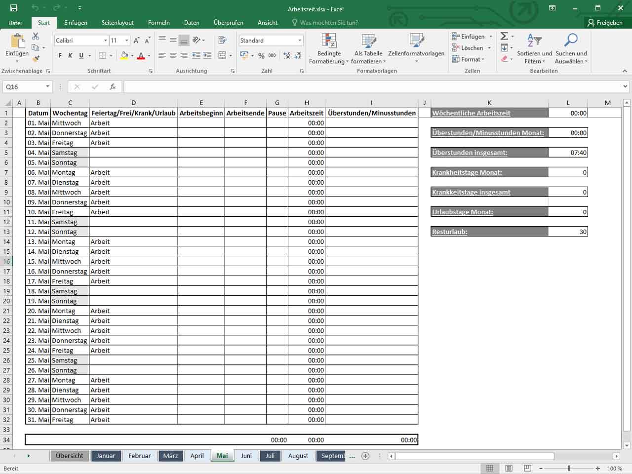 Excel Vorlage Zeiterfassung In Corona Zeiten Zeiterfassung Kostenlos