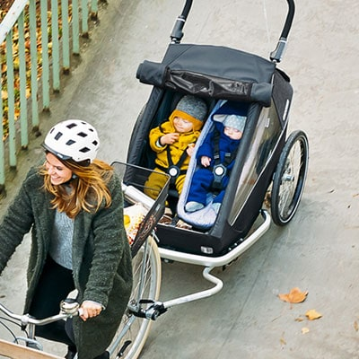Carry Your Baby Safely In A Croozer Bicycle Trailer