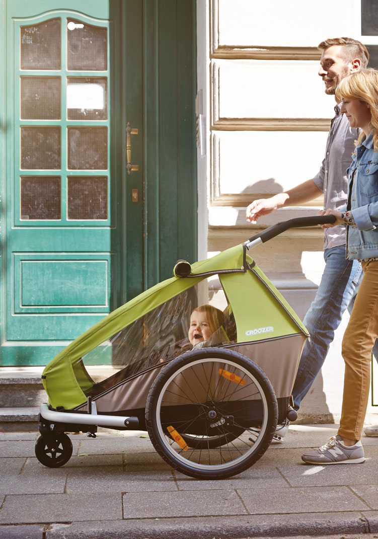 bicycle trailers for child pet and cargo croozer. Black Bedroom Furniture Sets. Home Design Ideas