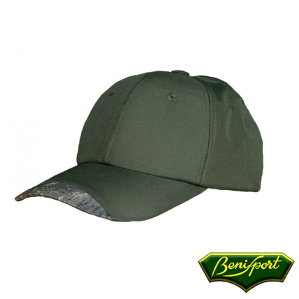 BENISPORT DARK GREEN 6 PANNELS CAP WITH MEMBRANE