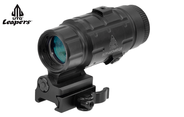 LEAPERS 3X MAGNIFIER QD FLIP-TO-SIDE
