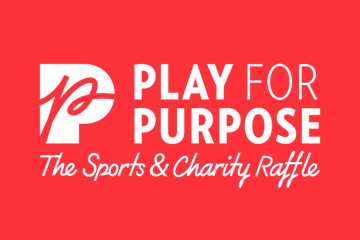 Play for Purpose red square logo - card