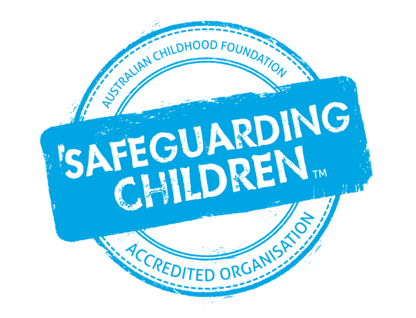 Safeguarding children accreditation logo sized for banner