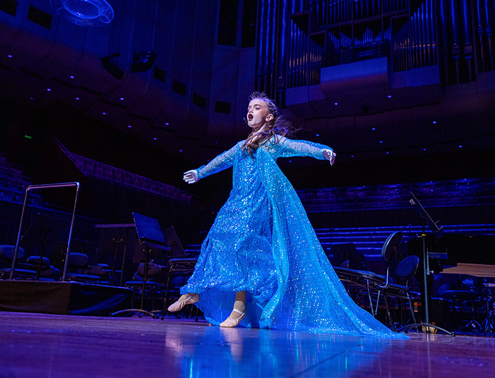 Abigail performing at the Sydney Opera House