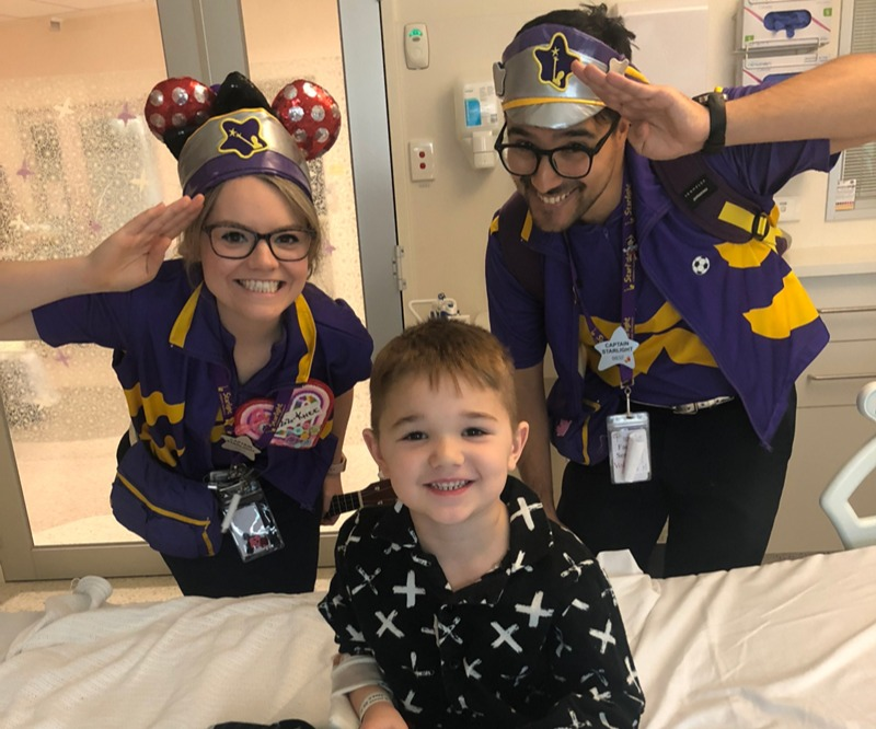 Captain Starlight visiting Chayse on the hospital ward - banner