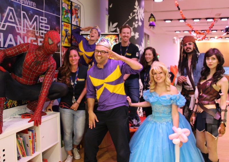 Andy Bell with Captain Starlight and Friends at event in Westmean SER