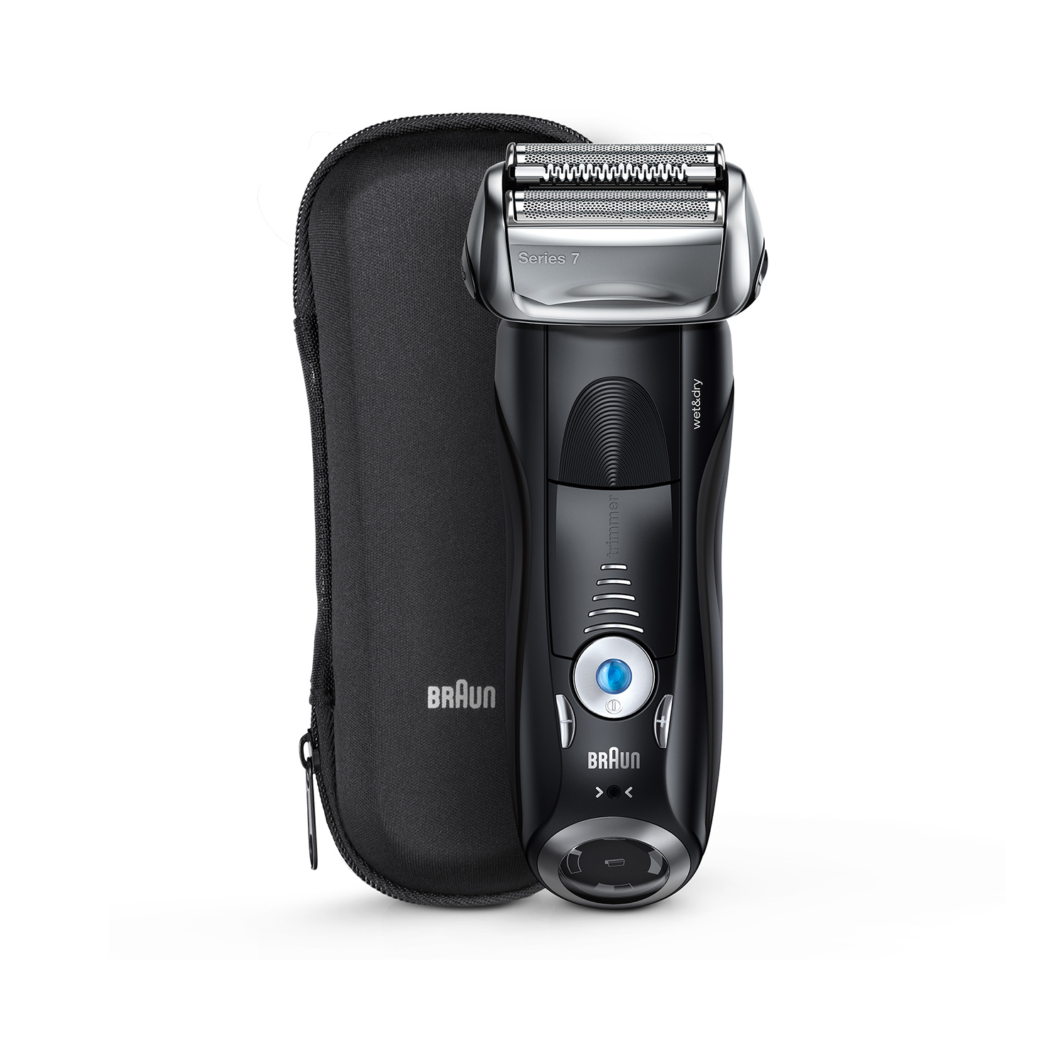 Braun Series 7 black electric shaver