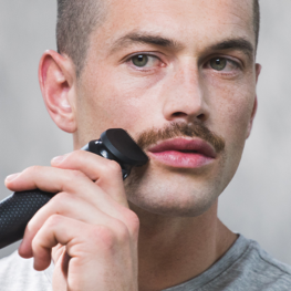 Shape your Moustache with the beard trimmer