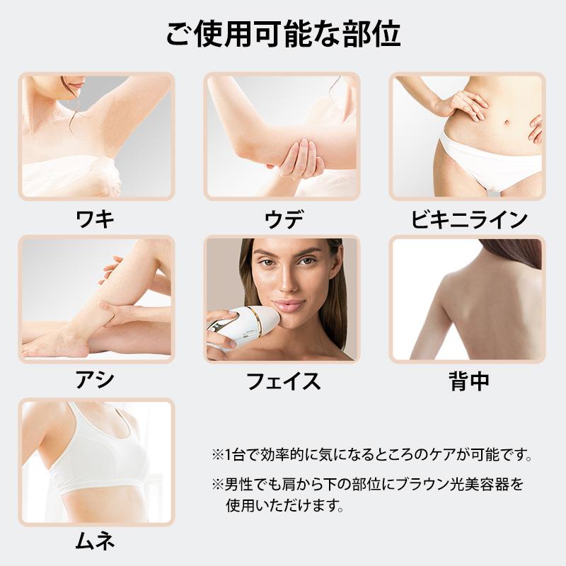 ワキ・ウデ・ビキニライン・アシ・フェイス・背中・ムネに使用可能。