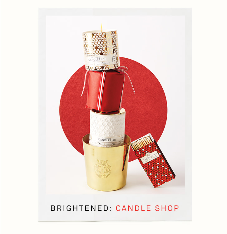 brightened: candle shop
