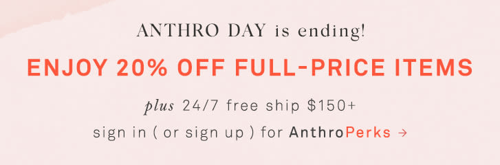 sign in ( or sign up ) for AnthroPerks