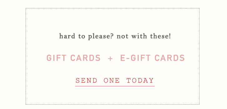 gift cards & e-gift cards