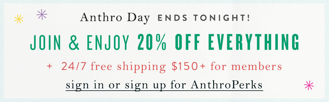 Sign in or sign up for AnthroPerks
