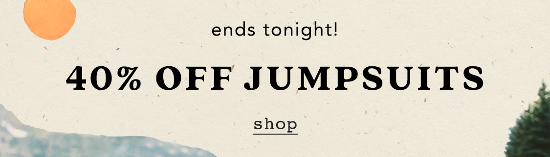 Shop 40% off jumpsuits