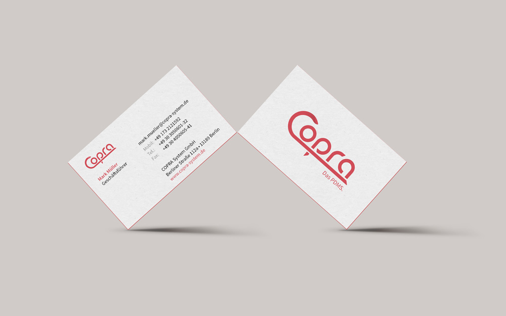 Copra business cards