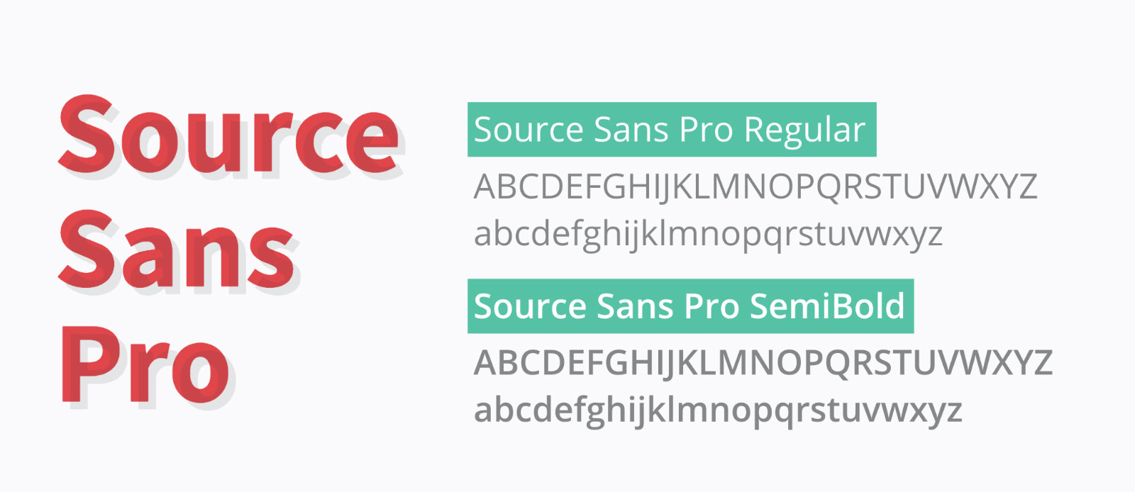 Typography — Source Sans in Regular & Semi Bold
