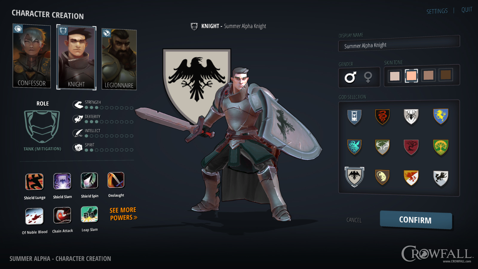 summer alpha character creation