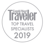 Awards: 2019 Conde Nast Traveler - Top Travel Specialist