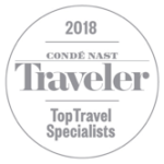 Awards: 2018 Conde Nast Traveler - Top Travel Specialist