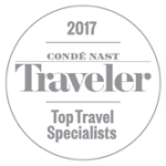 Awards: 2017 Conde Nast Traveler - Top Travel Specialist