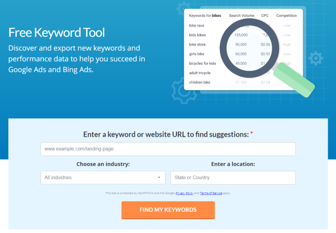 WordStream Keyword Research