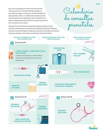 Calendario de consultas prenatales