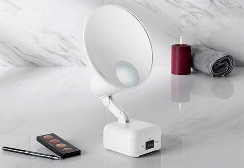 15X Magnifying Folded Lighted Mirror
