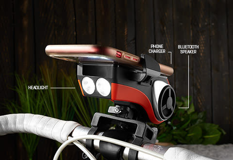 Ultimate Bicycle Speaker Mount and Headlight
