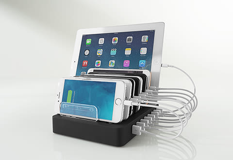 8 Device Quick Charging Station