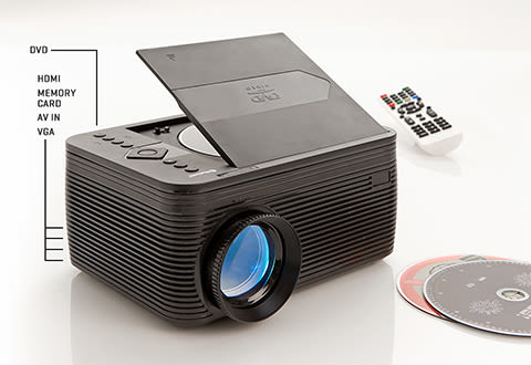 Home Theater Projector with DVD Player
