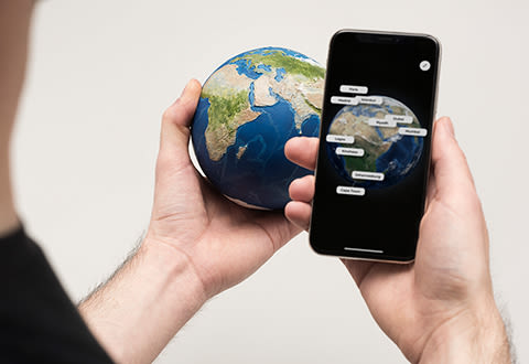 Augmented Reality 3D Earth