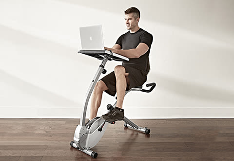 Laptop Workout Desk and Recumbent Bike