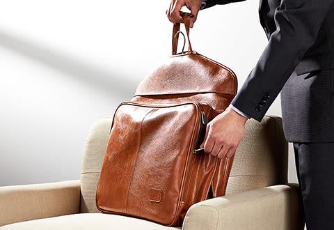 Luxury Leather Garment Bag