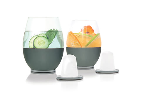 The First Self Chilling Glassware (Set of 2)