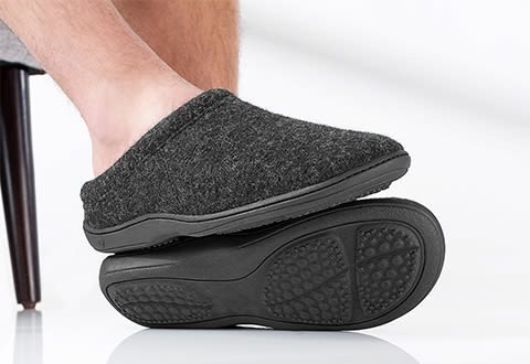 Most Comfortable Men's Arch Supporting Indoor/Outdoor Slippers