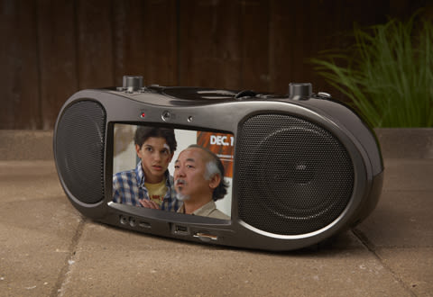 Bluetooth CD and DVD Boombox Radio