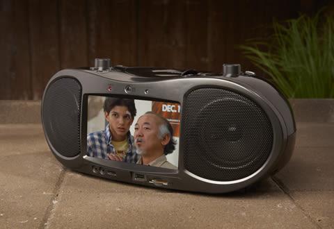 Bluetooth CD and DVD Boombox Radio