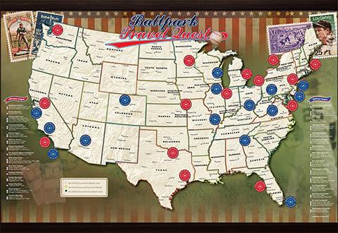 MLB Ballpark Map