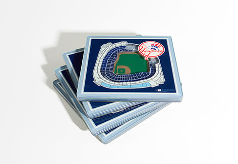 MLB 3D Stadium Coasters (Set of 4)