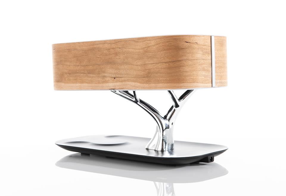 Bonsai Bluetooth Speaker Lamp With Wireless Charging Pad Sharper Image