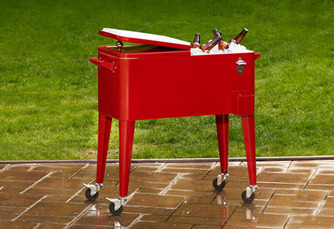 Retro Patio Cooler Cart