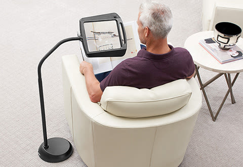 Full-Page Floor Magnifying Lamp