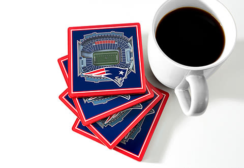 NFL 3D Stadium Coasters (Set of 4)