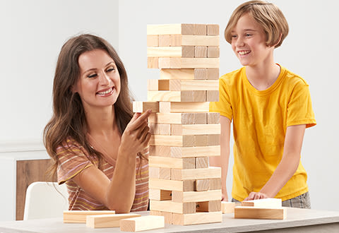Giant Stacking Tower Game