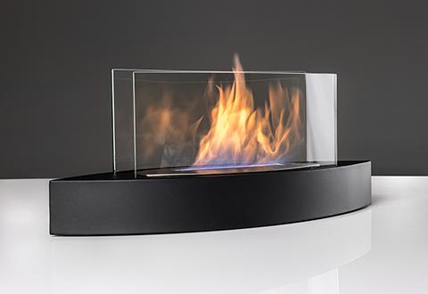 Sharper Image Tabletop Fireplace Black