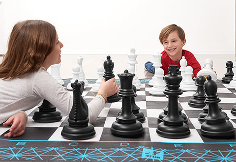 Giant Chess and Checkers Game