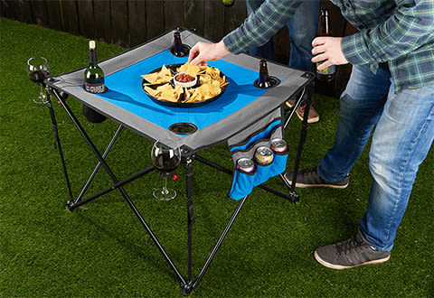 Folding Pop-Up Tailgate Table